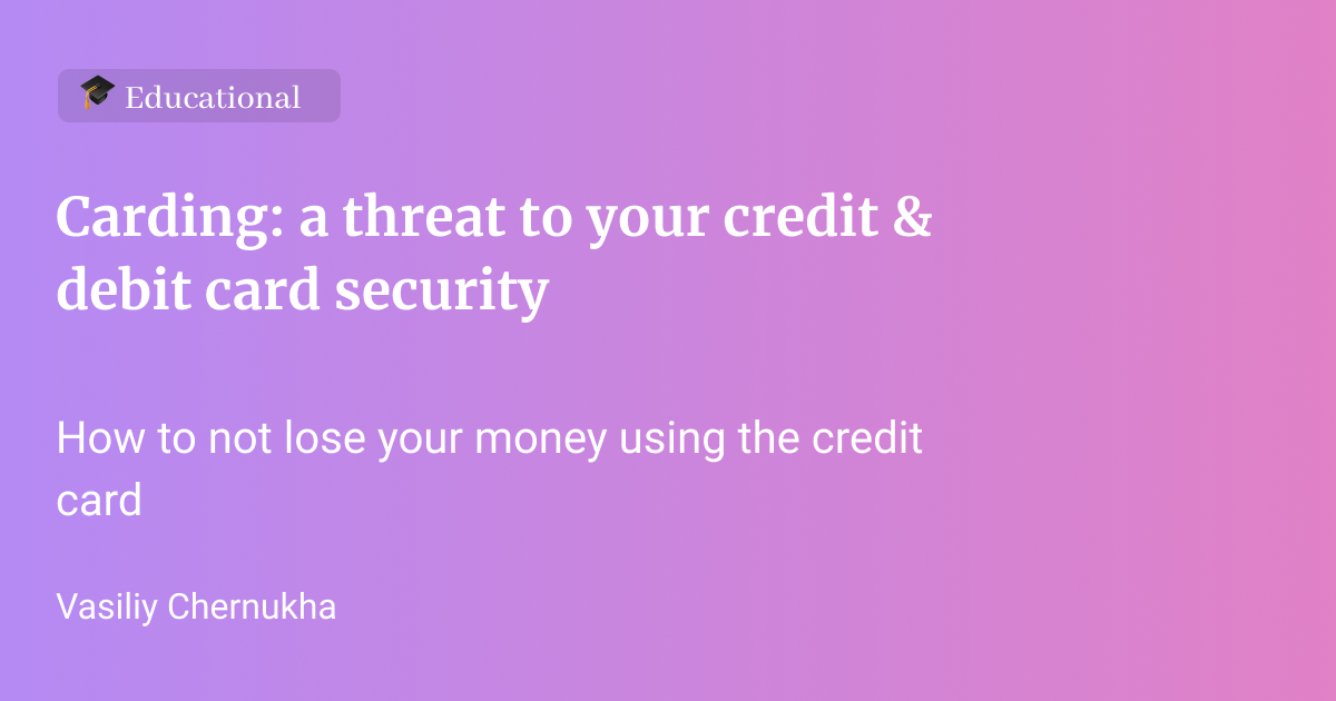 Credit and debit card fraud – phishing & skimming | Protect your