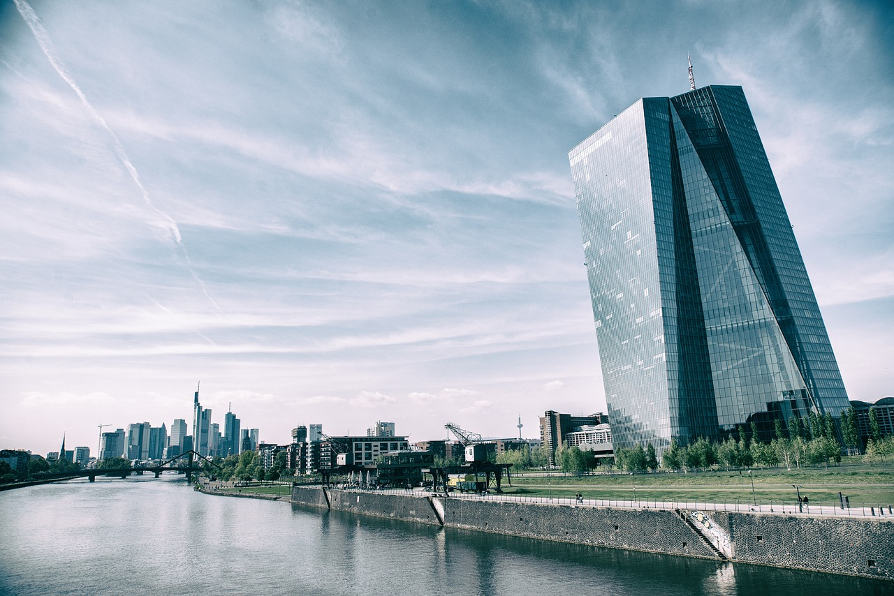 The building of the European Central Bank located in Frankfurt am Main